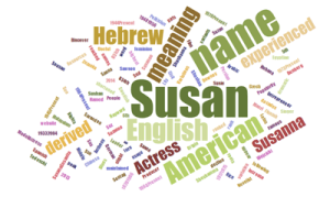 Susan's Word Cloud