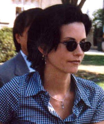 Courteney Cox as Monica Geller from Hit TV series Friends