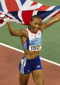 The famous British athlete Kelly Homes