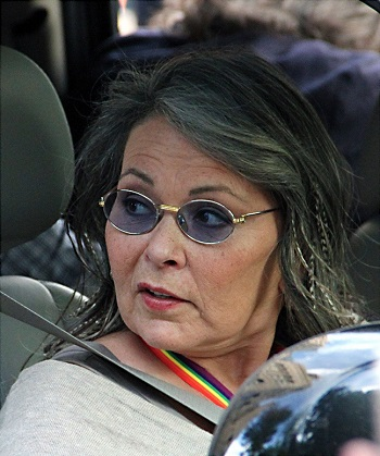 The American Actress Roseanne Barr
