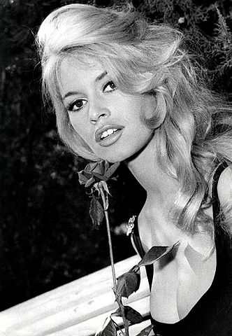 The attractive model Brigitte Bardot